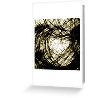 Light swirls between trees, #1 Greeting Card
