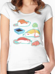 Sushi Rats! Women's Fitted Scoop T-Shirt