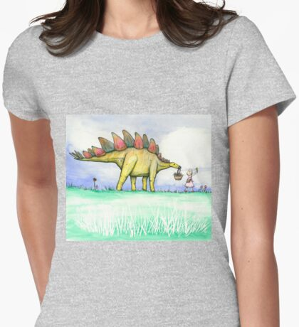 Stegosaurus Flowers T-Shirt
