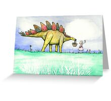 Stegosaurus Flowers Greeting Card