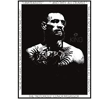 "Conor McGregor ""King"" Version 2 Photographic Print"