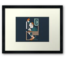 The Writing Man Framed Print