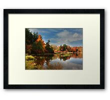 Autumn Reflections ~ Lake Jean Framed Print