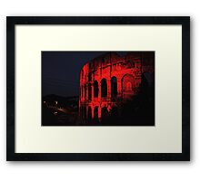 ROME - Colosseum in red - October 10th 2010 - # 1 Framed Print