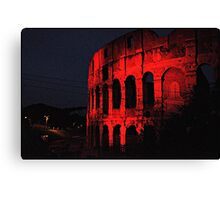 ROME - Colosseum in red - October 10th 2010 - # 1 Canvas Print