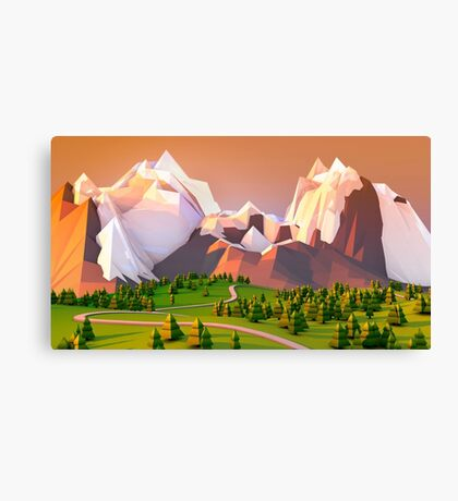 Polygon Mountain Canvas Print