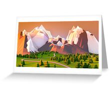 Polygon Mountain Greeting Card