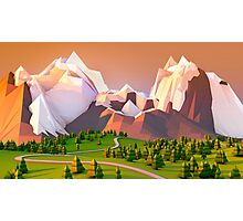 Polygon Mountain Photographic Print