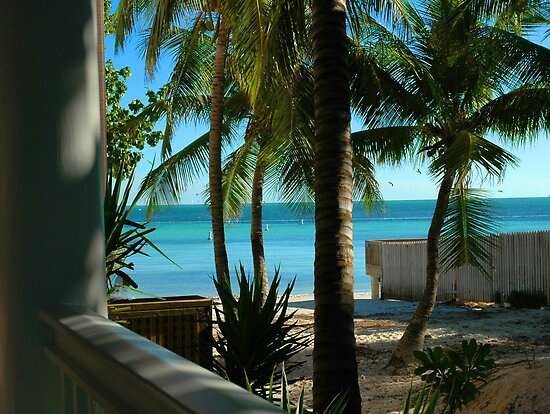 Louie's Backyard, Key West Florida by Susanne Van Hulst