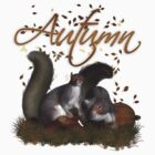 Autumn Squirrel T Shirt by Moonlake