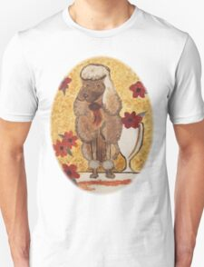 Poodle with Wine Glass T-Shirt