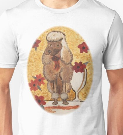 Poodle with Wine Glass Unisex T-Shirt
