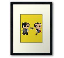 Bruce vs Clark Framed Print
