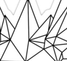 Jolteon Wireframe Monochrome Sticker