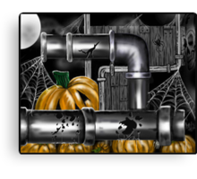 """Pumpkin Pipes 2"" Canvas Print"