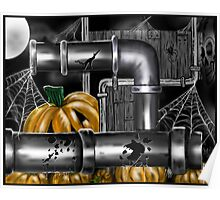"""Pumpkin Pipes 2"" Poster"