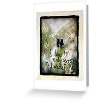 I Like to Send Secrets on Dandelions mixed media Greeting Card