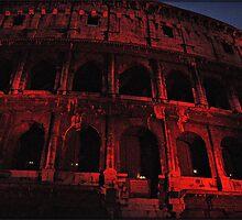 ROME - Colosseum in red - October 10th 2010 - # 3 by Daniela Cifarelli