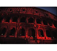 ROME - Colosseum in red - October 10th 2010 - # 3 Photographic Print