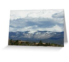 Santa Fe Mountains Greeting Card