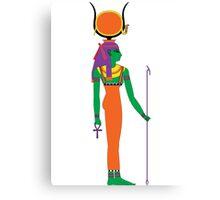 Hathor Solar [FRESH Colors] | Egyptian Gods, Goddesses, and Deities Canvas Print