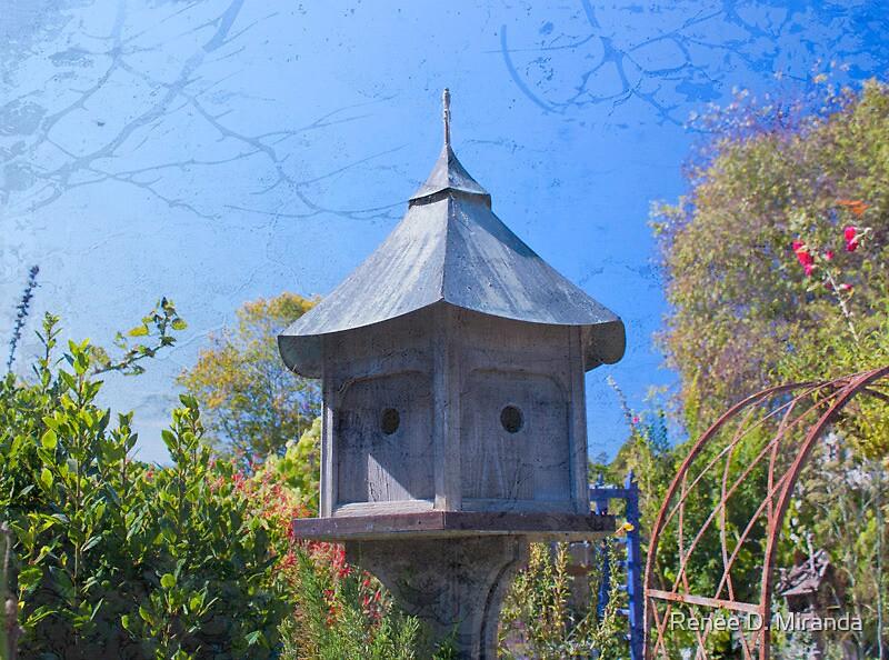 Blue Birdhouse by Renee D. Miranda