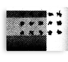 PRINT – Halftone screen 3 Canvas Print