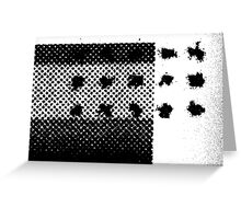 PRINT – Halftone screen 3 Greeting Card