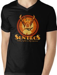 Sun Bros Mens V-Neck T-Shirt