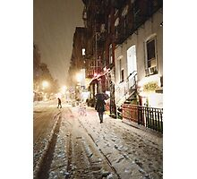 Snowy Night - Lower East Side - New York City Photographic Print