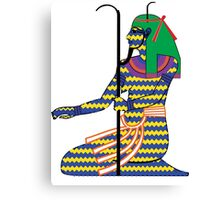 Heh as Chaos [FRESH Colors] | Egyptian Gods, Goddesses, and Deities Canvas Print