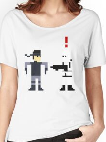 Metal Gear Pixel Women's Relaxed Fit T-Shirt