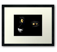 CAT BLACK Framed Print