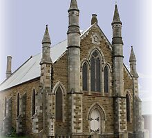 St Peter's Lutheran Church Hobart Tasmania 1870. by PaulWJewell