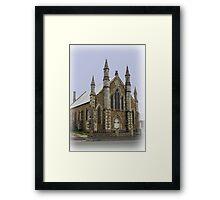 St Peter's Lutheran Church Hobart Tasmania 1870. Framed Print