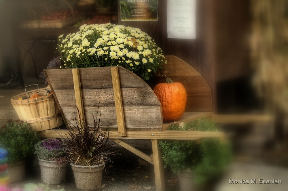Autumn Afternoon at Colby Farm by Monica M. Scanlan