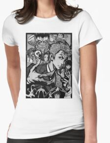 Parasyte GrayScale Version Womens Fitted T-Shirt