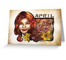 Brenda of April Greeting Card