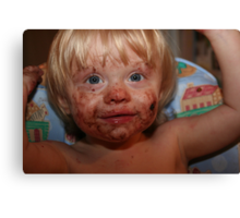 Boy, That Cookie Was Good!! Canvas Print