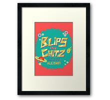 Blips and Chitz // Rick and Morty Framed Print