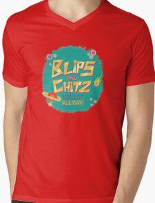 Blips and Chitz // Rick and Morty Mens V-Neck T-Shirt