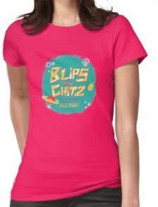 Blips and Chitz // Rick and Morty Womens Fitted T-Shirt
