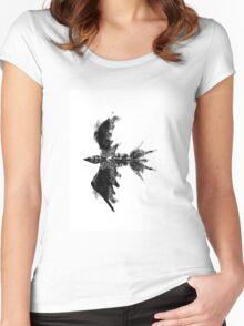 Inkblot bird Women's Fitted Scoop T-Shirt