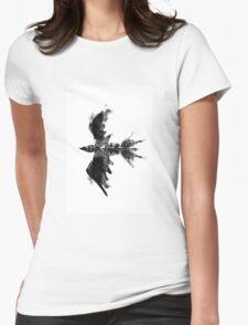 Inkblot bird Womens Fitted T-Shirt