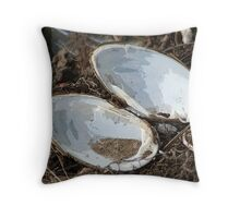 Clam Shells from the Allegheny River Throw Pillow