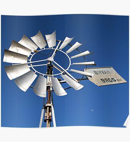 Windmill Moon Poster