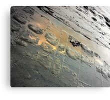 Golden Reflection on the Tessellated Pavement , Pentax K200D Canvas Print