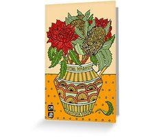 Banksias and Waratahs in a jug Greeting Card