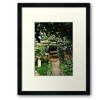 Garden Rooms Framed Print