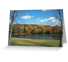 Autumn in Groundhog Country Greeting Card
